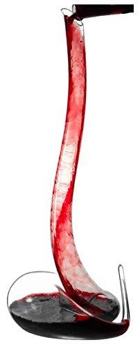 SoGuDio Decantador Decantador de vinos, Copa de Cristal con soplado a Mano 100%, 1,5L Vino Rojo Forma de Serpiente Jarra, aireador de Vino con Base Amplia, Fortalecer artesanías Decantador de Whisky