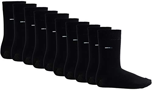 9 Paar Cerruti Socken Business Socken Herren Socken Baumwolle - Farbe: Schwarz - Größe: 43-46