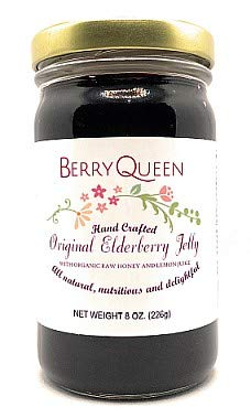 Berryqueen Organic Elderberry Jelly - Pure Natural (8oz Jelly)