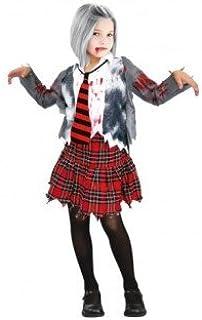 Partilandia Disfraz Zombie Colegiala para niña(2-4 años): Amazon ...