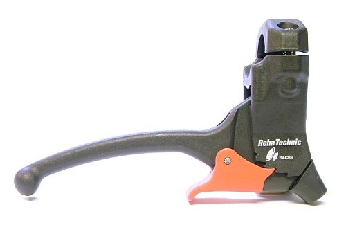 acelo Varios Bremsgriff/Bremshebel mit Arretierung/Parkhebel - Links/rechts; Befestigungsdurchmesser D 21mm; Bremszugabgang: 80 Grad; PH: rastend