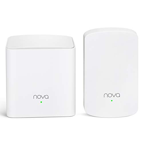 Tenda Nova Whole Home Mesh WiFi System - Replaces Gigabit AC WiFi Router and Extenders, Dual Band, Works with Amazon Alexa, Built for Smart Home, Up to 2,500 Sq. ft. Coverage (MW5 2 Pack)