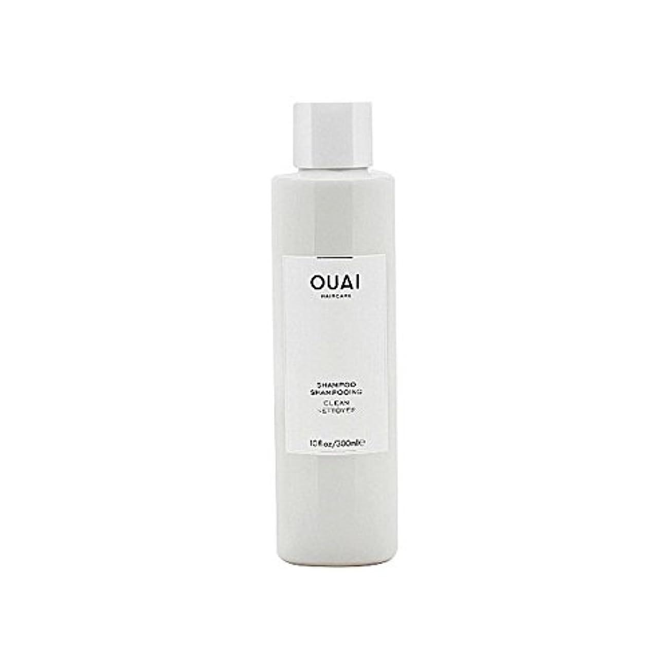 フラップサーフィン黄ばむクリーンシャンプー300ミリリットル x4 - Ouai Clean Shampoo 300ml (Pack of 4) [並行輸入品]