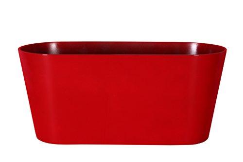 Art en Vogue Pot de Fleurs, Coupe de Fleurs Claire, Finition Brillante, Rouge, 38x16x17cm