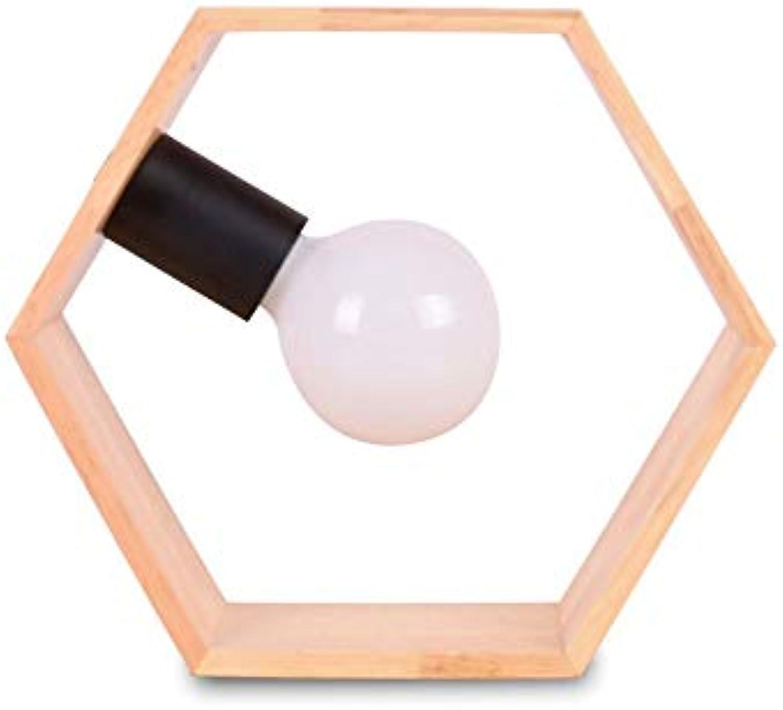 Einfache Kreative Geometrische Form Woody Tischlampe Augenschutz Studie Leselampe Schlafzimmer Wohnzimmer Büro Dekorative Lichter Nachttischlampe Netzschalter Taste Spannung 110  240 V (Gre  St