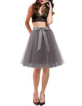 DRESSTELLS Short Skirts for Women Sexy Grey L