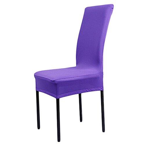 equival Cubierta de la silla de algodón suave para el hogar, cubierta de asiento de restaurante, cubierta de la silla de madera de la cubierta de confianza