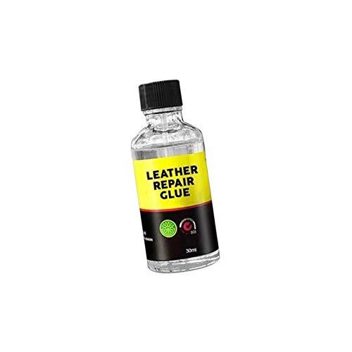 Pegamento de reparación de cuero, adhesivo líquido pegajoso impermeable, adecuado para sofás, muebles, asientos de automóvil, bolsos de cuero, 30 ml / 50 ml