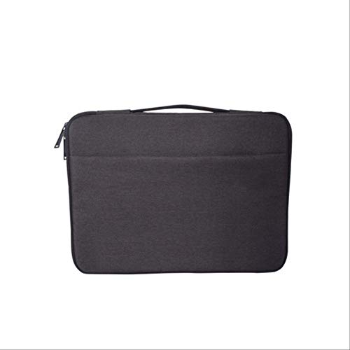 BJBNDB Laptop Case wasserdichte Hülle Tasche Für MacBook Air Retina Pro 11 12 13 13.3 14 15 15.6 Zoll Handtasche Für Xiaomi Air Notebook Für Xiaomi Air 13 Schwarz