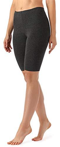 Merry Style Damen Kurze Leggings aus Viskose MS10-145 (Dunkelmelange, S)