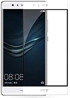 طبقة واقية للشاشة من الزجاج الصلب الحقيقي عالي الوضوح لهاتف هواوي P9 بلس [لهاتف P9 بلس] باللون الأبيض
