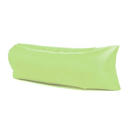XUE-SHELF Faule aufblasbare Sofa Camping im Freien Strand Faule aufblasbare Sofa tragbare Falten Schlafsack aufblasbares Bett, geeignet für Outdoor-Reisen Picknick,Grün