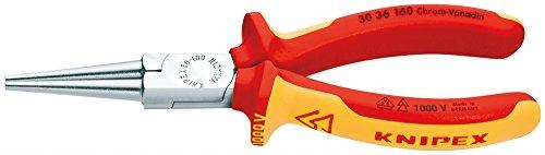 KNIPEX 30 36 160 Langbeckzange verchromt isoliert mit Mehrkomponenten-Hüllen, VDE-geprüft 160 mm