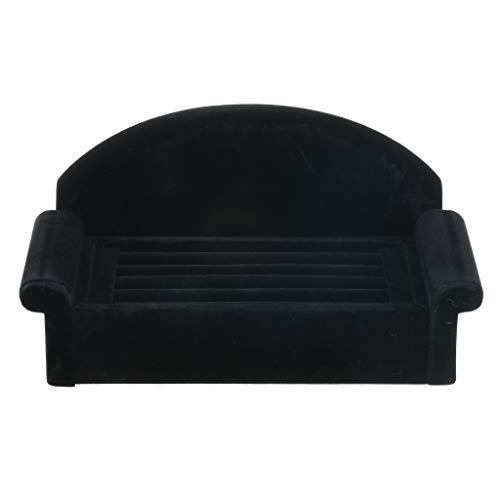 yotijar Caja de Almacenamiento del Gabinete de Exhibición de La Joyería con El Sostenedor del Collar en Forma Negra