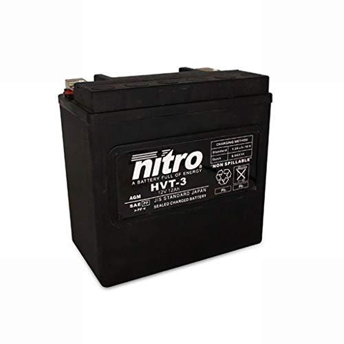 Batterie 12V 14AH HVT 03 Gel Nitro XL X ESPFI Sportster Forty-Eight ABS 15-19