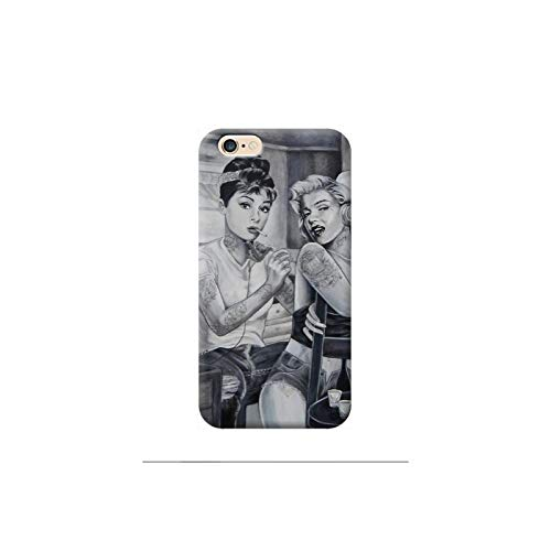 TheBigStock Cover Custodia per Tutti Modelli Apple iPhone x 8 7 6 6s 5 5s Plus 4 4s 5c TPU - F05 Marilyn Monroe Tattoo Sex, iPhone 7