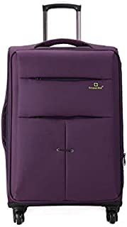 Luggage & Bags 32 inch Oxford Cloth Universal Wheel Travel Password Draw-bar Box Luggage Carrier(Black) (Color : Purple)