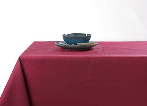 Linder tafelkleed, rechthoekig, polyester, rood, 150 x 300 cm