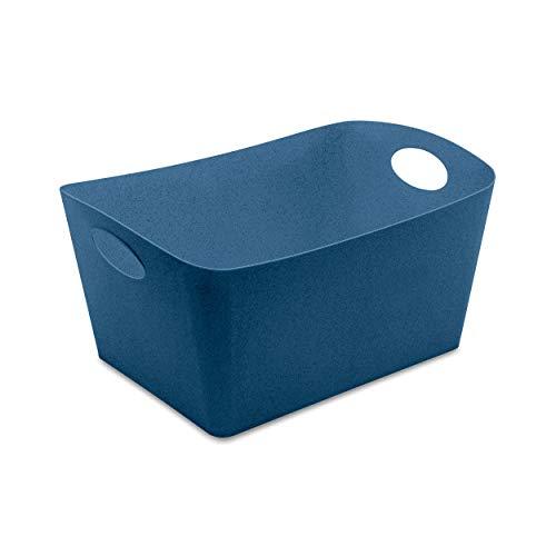 Koziol Aufbewahrungsbox Boxxx L, Box, Kiste, Korb, Aufbewahrung, Thermoplastischer Kunststoff, Organic Deep Blue, 15 L, 5743675