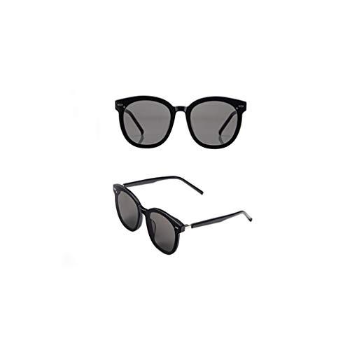 wkwk Gafas de Sol,Gafas de Sol GM,Gafas de Sol,Gafas de conducción New Wave para Hombre,protección UV,Negro (1 Pieza)