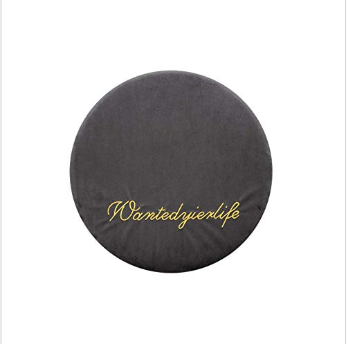 DUIPENGFEI Japanese-style velvet cushion, breathable office chair cushion, bay window cushion, round memory foam padded sofa cushion, 40 * 40 * 4.5cm, dark gray