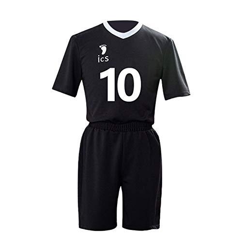 YZJYB Anime Haikyuu No.10 Rintaro Suna Costume de Volley-Ball Inarizaki High School Cosplay Volleyball du lycée Costume Unisex Vêtements De Sport Maillots,S