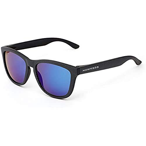 HAWKERS Sunglasses, Negro/Azul polarizado, One Size Unisex Adulto