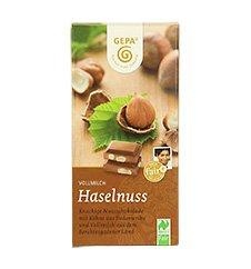 GEPA Bio Tafel-Schokolade - 1 Karton (10 x 100g) Vollmilch Nuss 38% Kakaoanteil