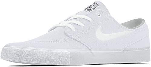 Nike SB Zoom Janoski Cnvs RM, Scarpe da Ginnastica Unisex-Adulto, White/White-Gum lt Brown-Black-Photo Blue-Hyper Pink, 41 EU