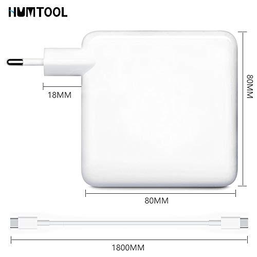 USB C Ladegerät, HUMTOOL 96W USB C Adapter für Mac Book Pro, 96W Typ C Ladegerät inklusive USB C-Kabel Kompatibel mit Mac Book Air/Pro/Retina, iPad Pro, iPhone 11/11 Pro/Pro Max, Huawei, Samsung