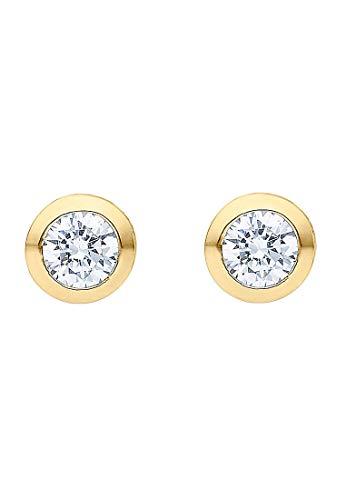 JETTE Silver Damen-Ohrstecker 925er Silber One Size Gold 32010183