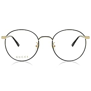 Gucci GG0297OK Trendy Round Metal Eyeglasses 52mm