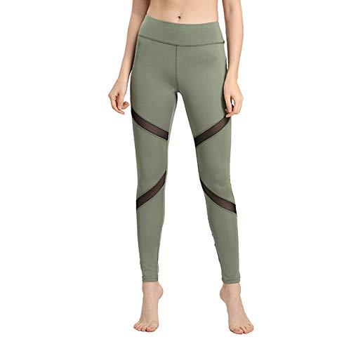 YHWW Leggings,Leggings de Mujer Sexy Pantalones de diseño de Malla con inserción gótica Pantalones Capris Negros de Gran tamaño Ropa Deportiva Nuevas Polainas de Fitness, Verde Militar, L