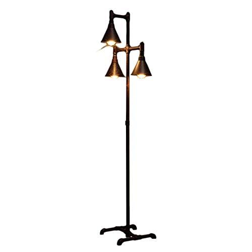 Staande lamp, vintage, industriële, Europees, retro, smeedijzer, voor woonkamer, studeerkamer, lamp E27 ZQG