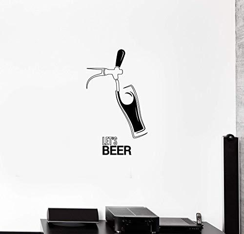 ASFGA Wandapplikation Bar Nachtclub Freizeit Ort Bier Pause alkoholisches Getränk Zuhause Wohnzimmer Dekoration Vinyl Aufkleber 42 * 73cm