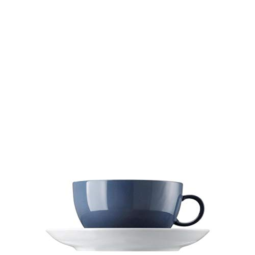 Thomas 10850-408545-14670 Sunny Day Nordic Blue Cappuccinotasse 2tlg. (1 Obertasse/1 Untertasse)