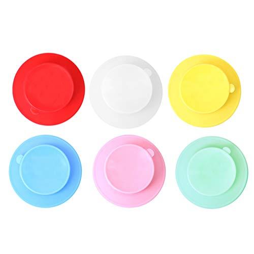 TOYANDONA 10 Piezas de Silicona con Base de Ventosa Anti-Caída Titular de Cuenco para Bebés Platos de Cena Ventosas para El Hogar Hotel Cafetería Tienda (Color Aleatorio)