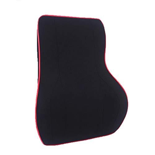 Chun Ergonomisches Lendenwirbelstützkissen, Rückenkissen Ausgewogene Festigkeit Entwickelt - Lindert Rückenschmerzen - 100% Reiner Memory-Schaum - Für die meisten Sitze geeignet - Schwarz