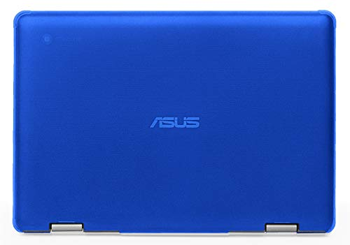 mCover - Carcasa rígida para ASUS Chromebook Flip C214MA de 11,6 Pulgadas (2019, no Compatible con Otros Modelos ASUS Chromebook) Azul