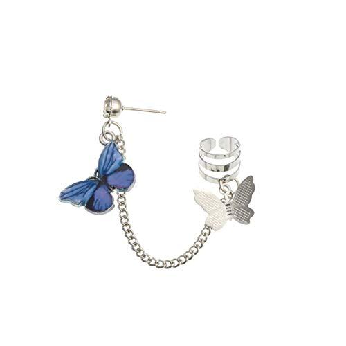 ZHOUBA - Pendientes para mujer, diseño de mariposa, color morado