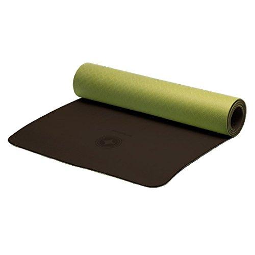 STOTT PILATES Eco-Friendly, Tappetino Ecologico per Pilates, Colore Unisex-Adulto, Foglia Verde/Corteccia