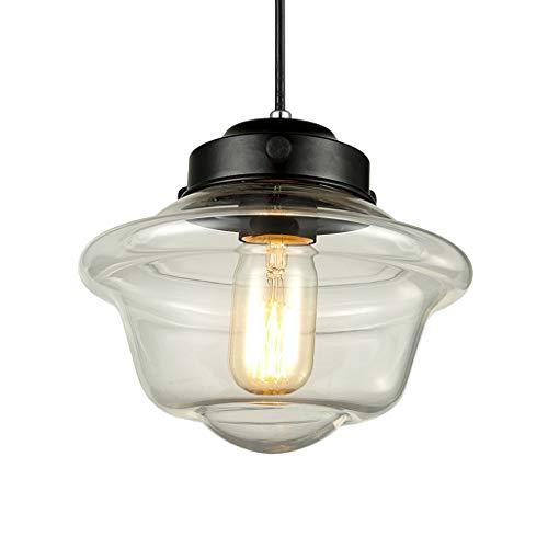 XL Moderne hangende heldere glazen scherm plafondlamp industriële bevestiging, hangend licht voor bar restaurant koffiepube-verlichting
