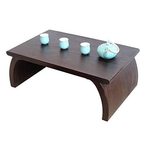 Tables De Piano De Baie Vitrée en Bois Massif Tatami Basse Japonaise D'étude Basse De Salon Basses (Color : Brown, Size : 70 * 45 * 30cm)