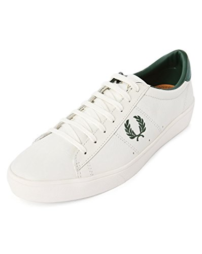Fred Perry Spencer Leather Blanco B5205254 tamaño: 44, Color, Talla 44