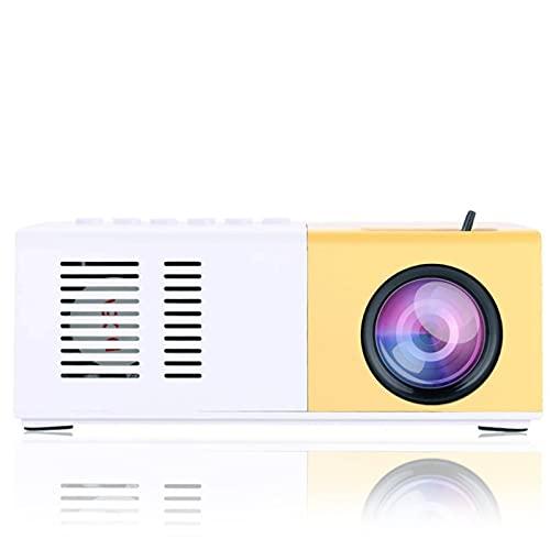 Garsent Mini Home cinéma, projecteur vidéo Portable HD 1080p, 30 000 Heures de durée de Vie, Compatible HDMI/VGA/USB/TV Box/Micro SD (Pas de Batterie)