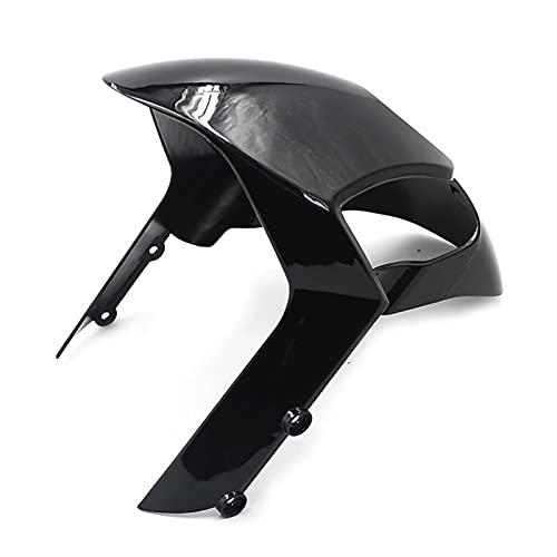 Bonkers Guardabarros de la Motocicleta Motorcycle Front Tire Fender Mudguard Splash Guard Mudflap Gloss Fairing para Du-Cati M-Onster 696 795 796 1200 S4R 1100 1100S EVO (Color : Negro)