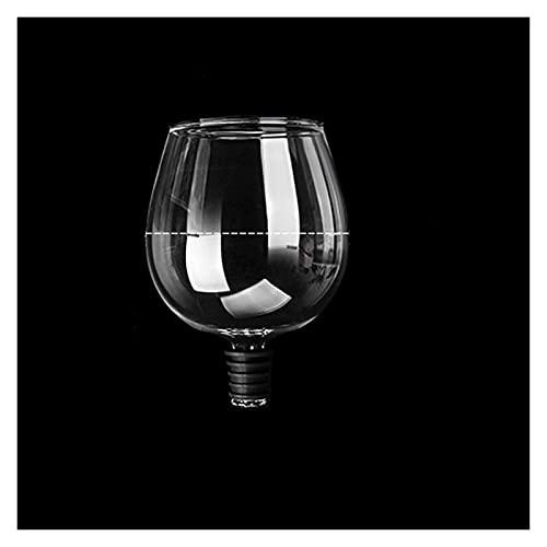 ZIS Copa de Cristal de champán de Vino Tinto Creativo con Bebida de Sello de Silicona Directamente de la Botella de Cristal de Cristal Cocktail Taza (Capacity : 401-500ml, Color : A)