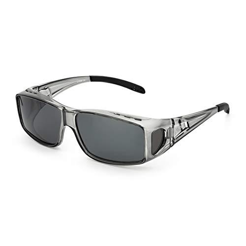 LVIOE Unisex Polarisiert Sonnenbrille, Brille Überbrille für Brillenträger, Fit-Over Polbrille für Herren und Damen 100{c5912987caf3929301b23e75c3453c8311ef9c1b884ba9e0dcc28b42d14ab99c} UVA UVB Schutz