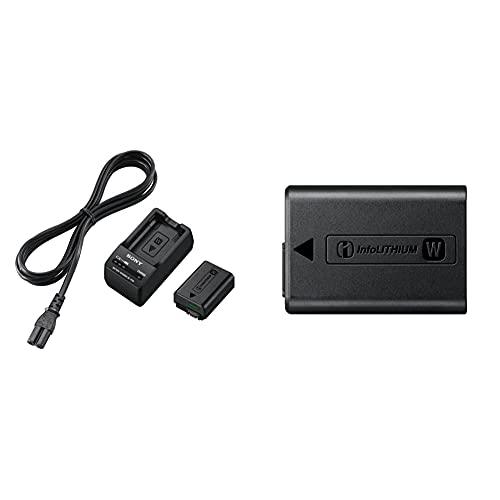 Sony ACC-TRWBatería para cámara de fotos para NEX-3, 5, 6 y 7/DSLR-SLT-A33 y DSLR-SLT-A55 (Li-Ion 1080 mAh) + NPFW50/C1 -Batería, color negro