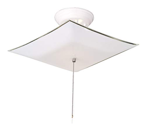 Design House 517805 2 Light Ceiling Light with Pull Chain, White